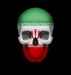 Iranian flag skull vector