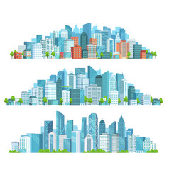 isolated cityscape city street abstract urban vector image