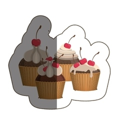 Isolated cupcake design vector
