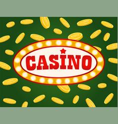 jackpot board gambling signboard casino vector image