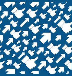 Like symbol seamless pattern vector