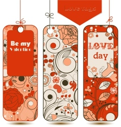 love tags set vector image