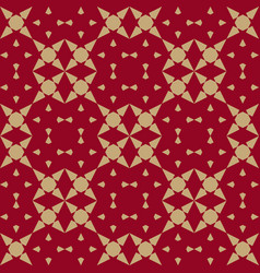 Luxury gold and red chinese geometric background vector