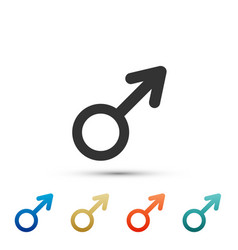 male gender symbol icon on white background vector image