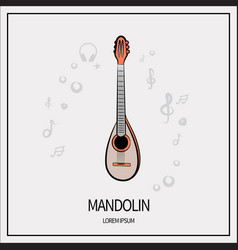 mandolin isolated icon vector image