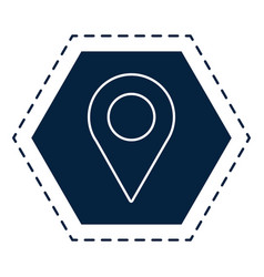 map location pin vector image
