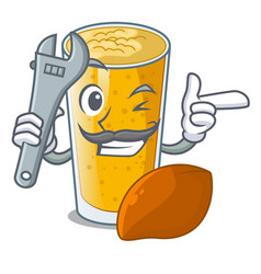 Mechanic lassi mango in the character fridge vector