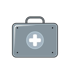 Medical bag cartoon icon on white background vector image