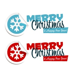 Merry Christmas Snowflake Stickers vector image