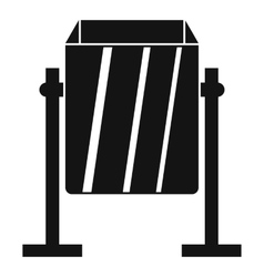 Metal dust bin icon simple style vector