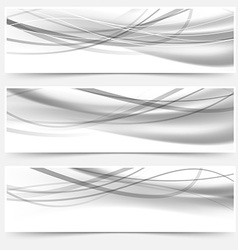 Modern halftone gray headers web collection vector image