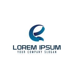 modern letter e logo design concept template vector image