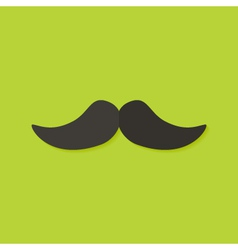 Mustache Christmas Flat Icon vector image