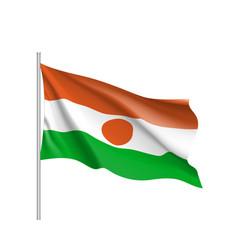 Niger realistic flag vector