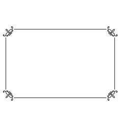 ornamental decorative page frame line style vector image