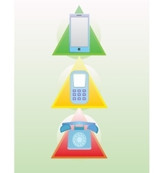 Phone evolution set vector image
