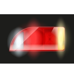 Rectangular car taillight vector image
