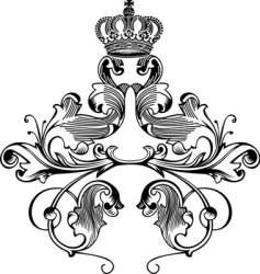 retro crown vector image