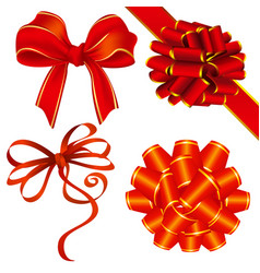 ribbon and bow decoration vector image vector image