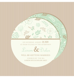 round wedding invitation card vector image