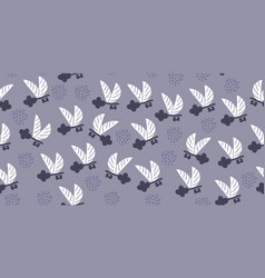 Seamless pattern with flying keys wings dots vector