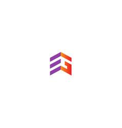 shape line building logo vector image