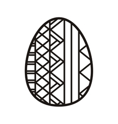 Silhouette easter egg design with striped vector