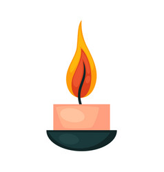 simple lighting candle vector image