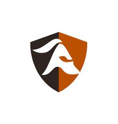 spartan warrior logo design template vector image