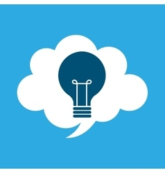 Start up business cloud idea bulb graphic isolated vector