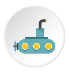 Submarine icon circle vector