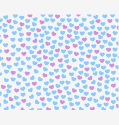 texture of small red and purple hearts template vector image