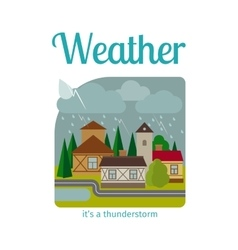 Thunderstorm in town vector image