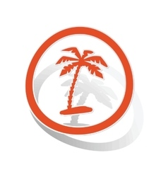 Vacation sign sticker orange vector image