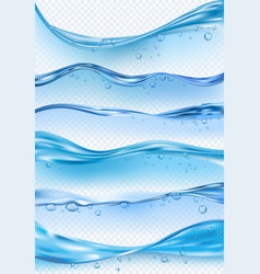 wave realistic macro flowing liquid surface vector image