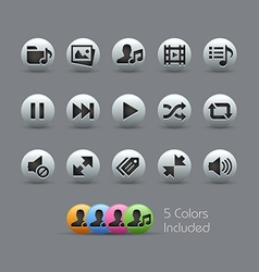 Web and Mobile 7 Pearly Series vector