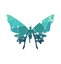 Woman butterfly vector