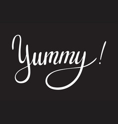 Yummy lettering designs vector