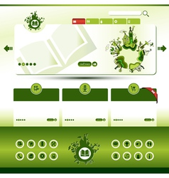 green eco website template vector image vector image