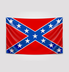 hanging flag of confederate confederate states of vector image