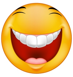 Laughing emoticon vector image vector image