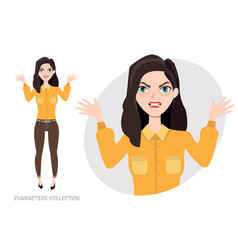 angry woman in stress vector image