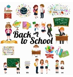 back to school background education vector image vector image