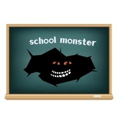board school monster vector image vector image