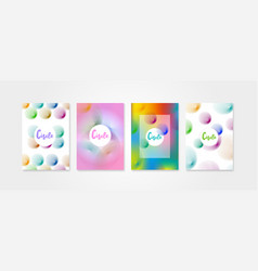 poster covers set with circle shapes vector image vector image