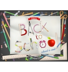 Back to school composition EPS 10 vector image
