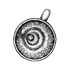 Black and white hand drawn coffee cup vector image vector image