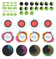 circle and linear graph and charts vector image