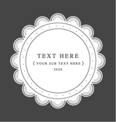 classic graphic frame vector image vector image