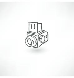 Hand drawn old camera icon vector image vector image